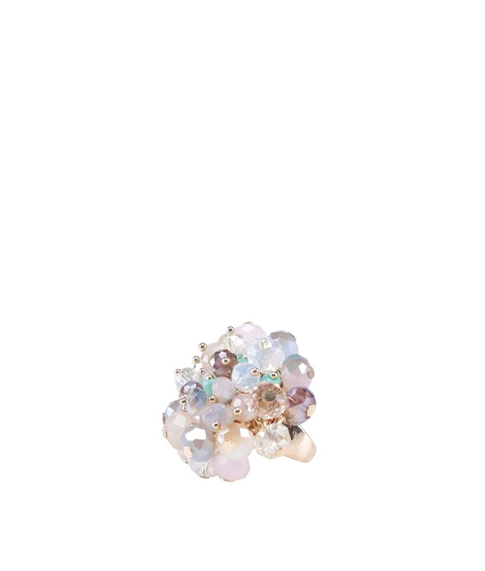 Prstýnek ve zlaté barvě s barevnými perličkami ALDO Colahan
