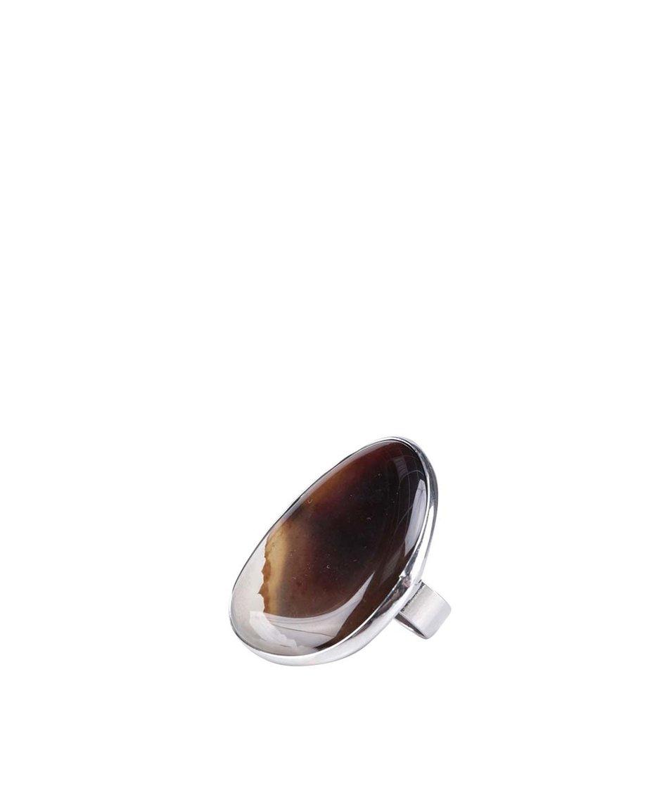 Prstýnek ve stříbrné barvě s ozdobným kamenem ALDO Etisa