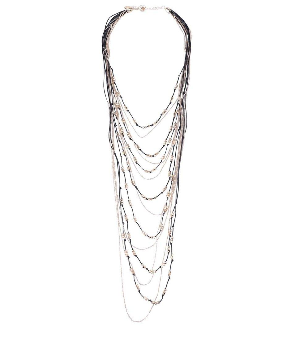 Černo-zlatý řetízkový náhrdelník ALDO Castiglioni