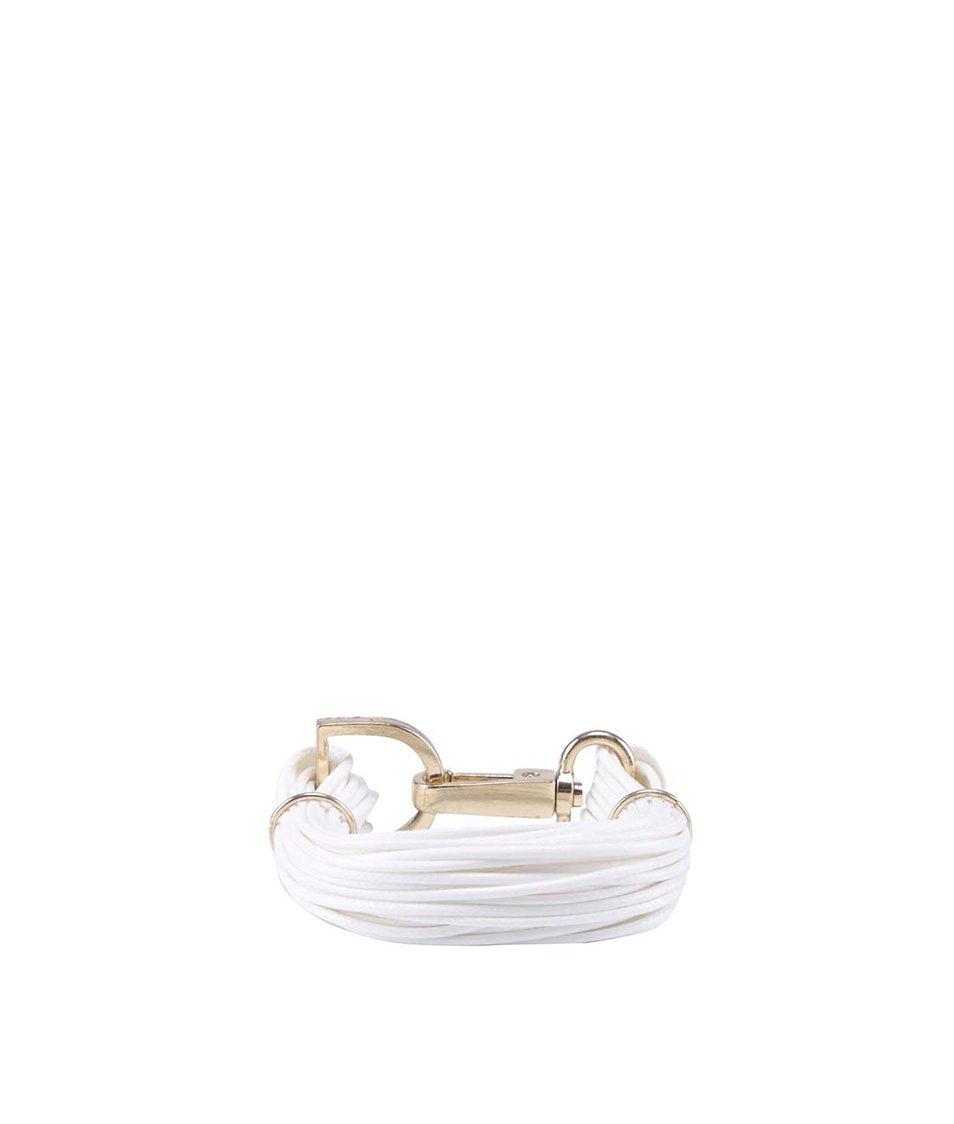 Bílý provázkový náramek s detaily ve zlaté barvě ALDO Woilia