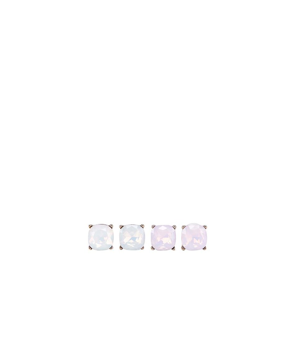 Dva páry náušnic v růžové a světle modré barvě ALDO Domithile
