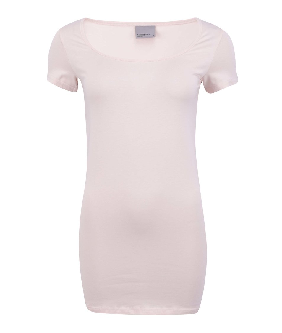 Tělové jednoduché tričko Vero Moda Maxi