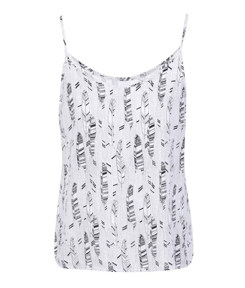 Černo-bílé vzorované tílko Vero Moda Easy