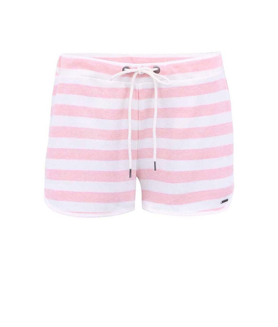 Bílo-růžové pruhované kraťasy Vero Moda Just Now