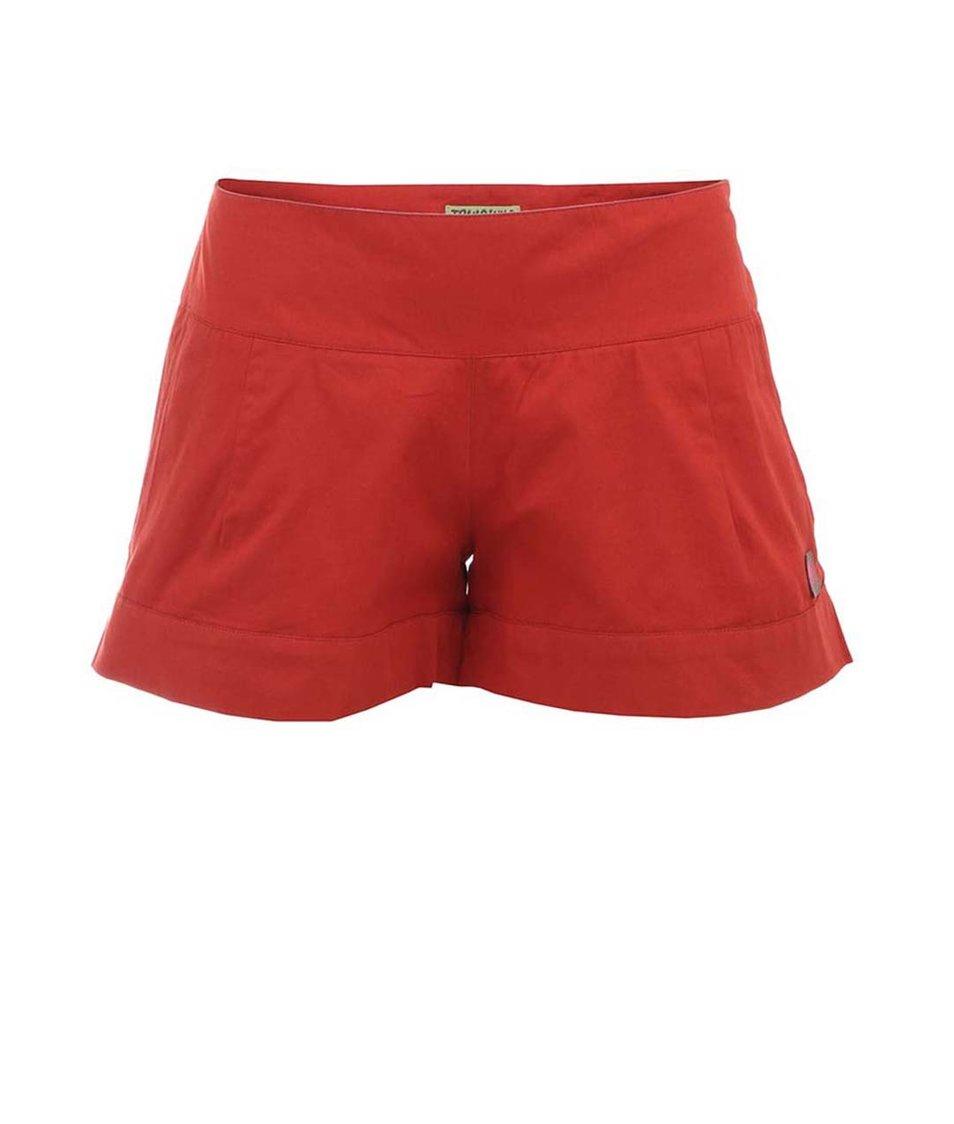Červené dámské bavlněné kraťasy Tranquillo Dili