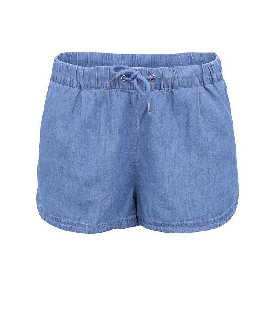 Modré denimové kraťasy Vero Moda Just Easy