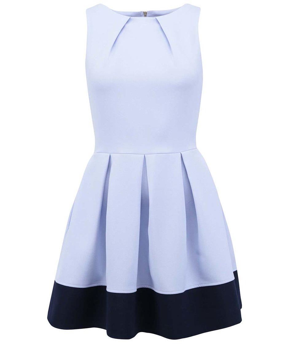 Světle modré šaty s tmavě modrým pruhem Closet