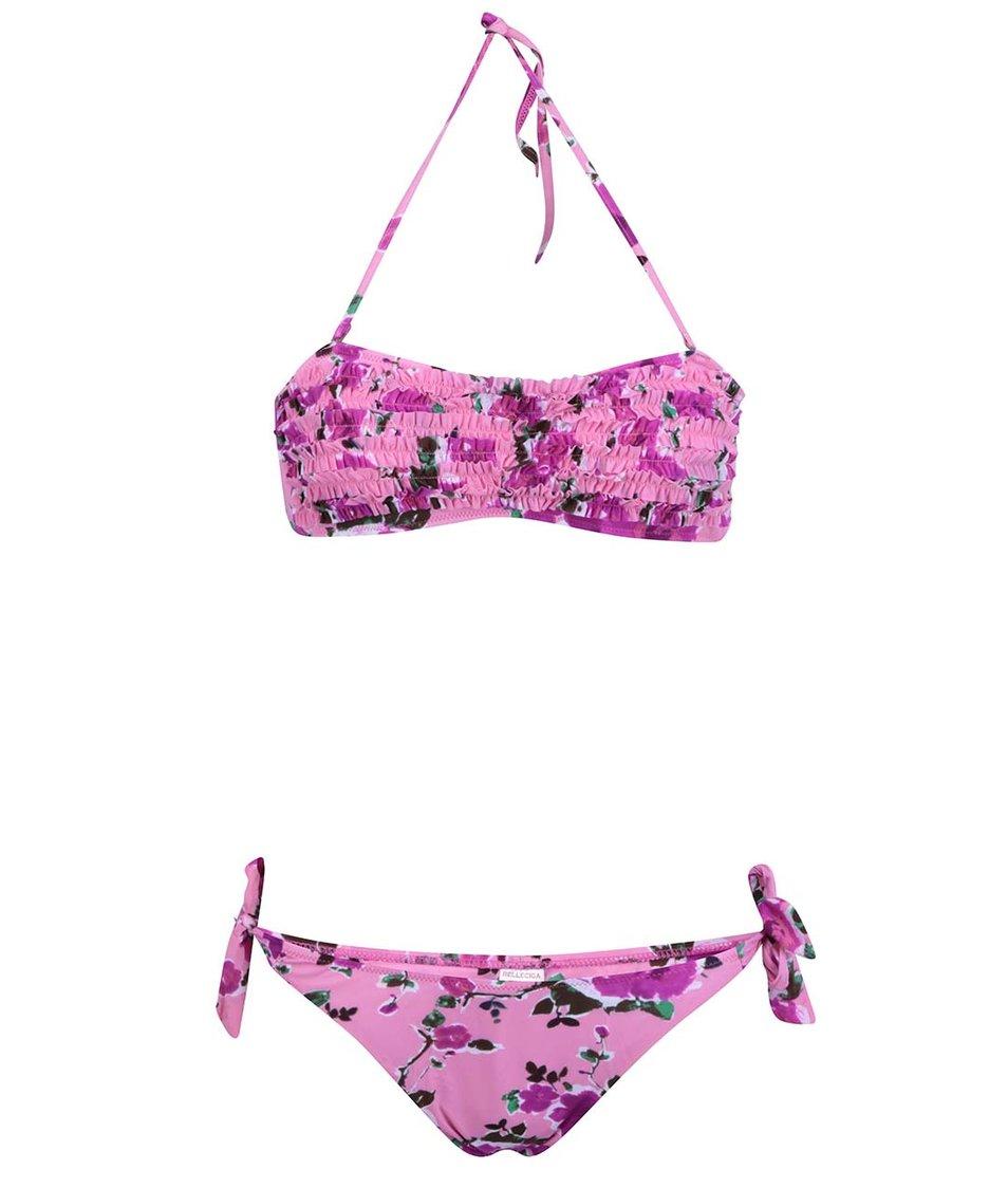 Růžové květované plavky Relleciga Kaleidoscope