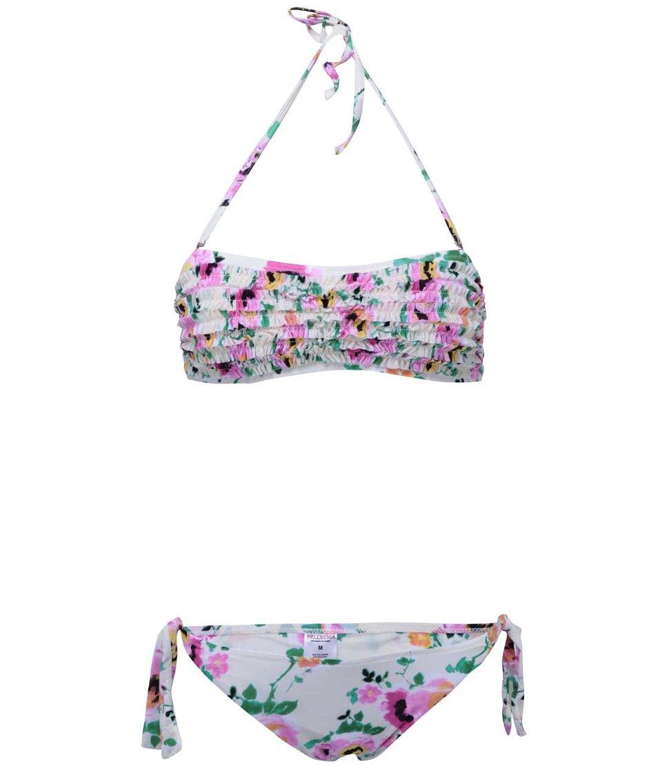 Krémové květinové plavky Relleciga Kaleidoscope