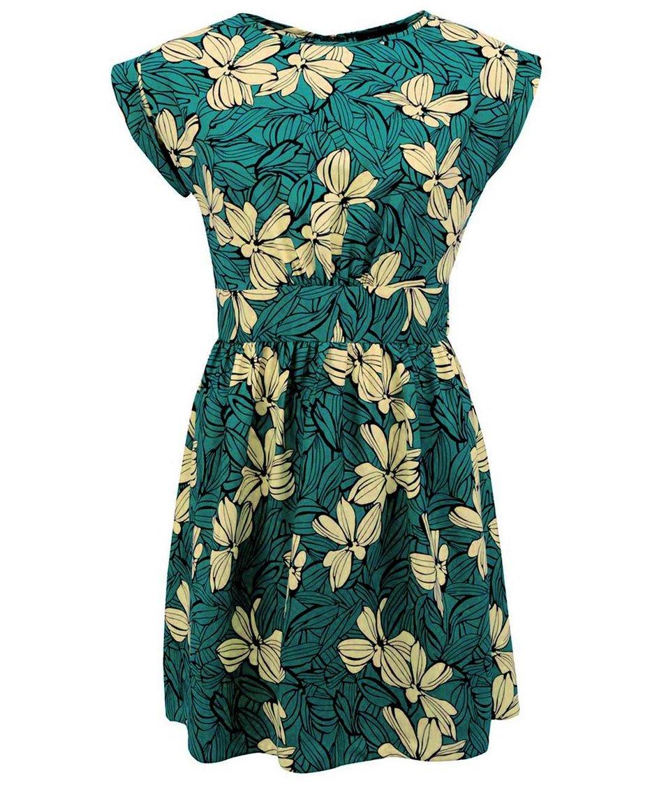 Zelené šaty se žlutými květy Closet