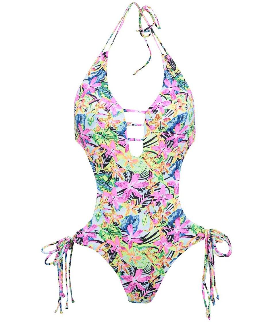 Barevné jednodílné plavky s květy Relleciga Oz
