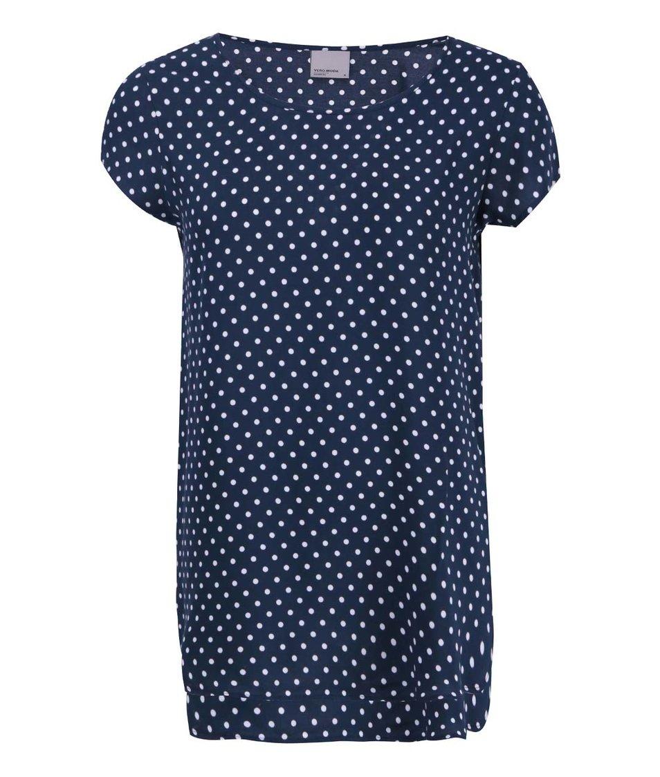 Tmavě modré tričko s puntíky Vero Moda Boca