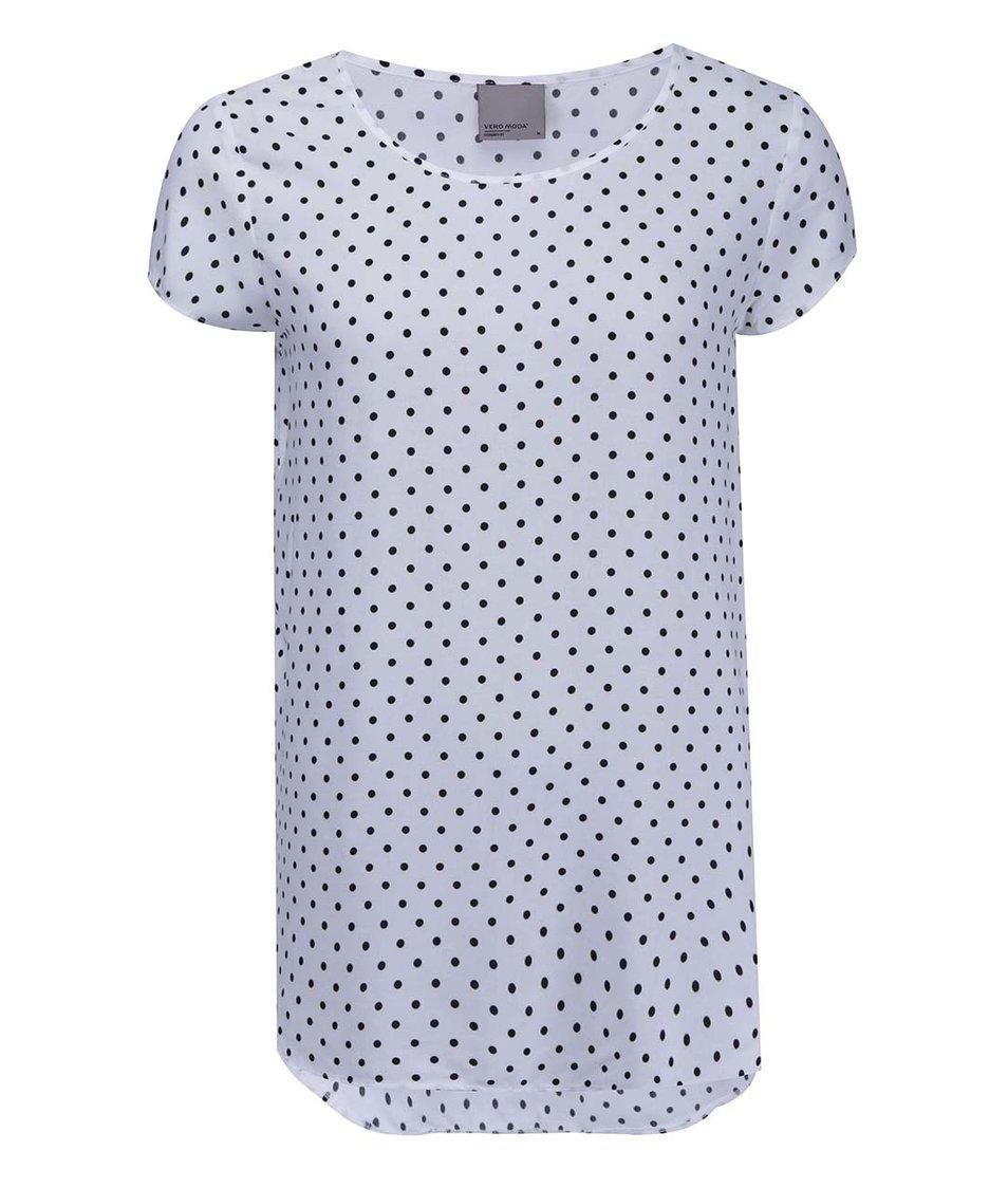 Bílé tričko s puntíky Vero Moda Boca