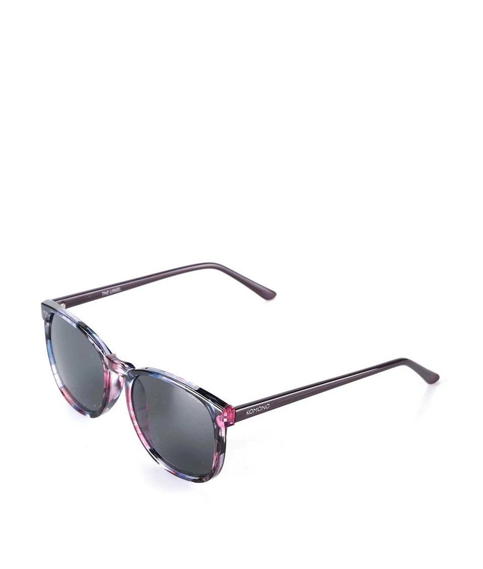 Růžovo-černé květované sluneční brýle Komono Urkel