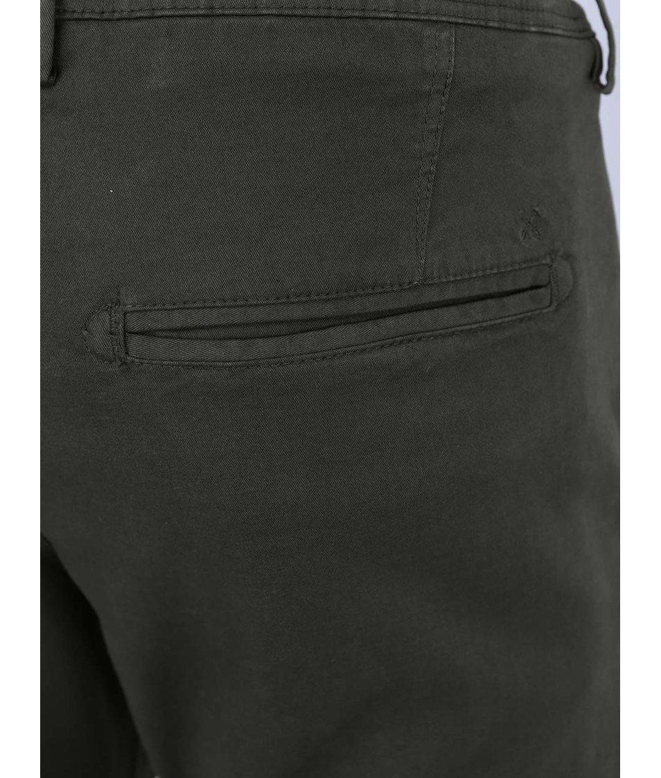 Tmavě zelené chino kalhoty Selected One Luca
