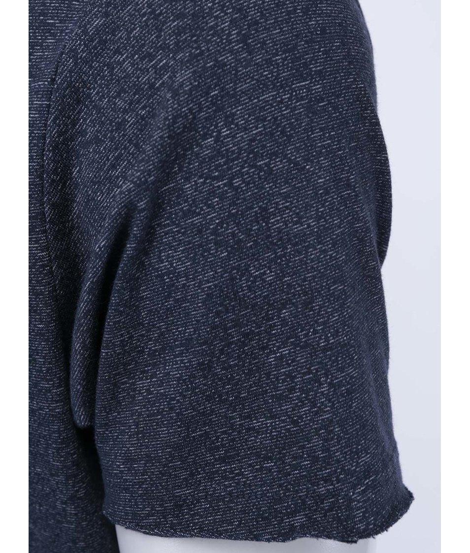 Tmavě modré žíhané triko Selected Freez