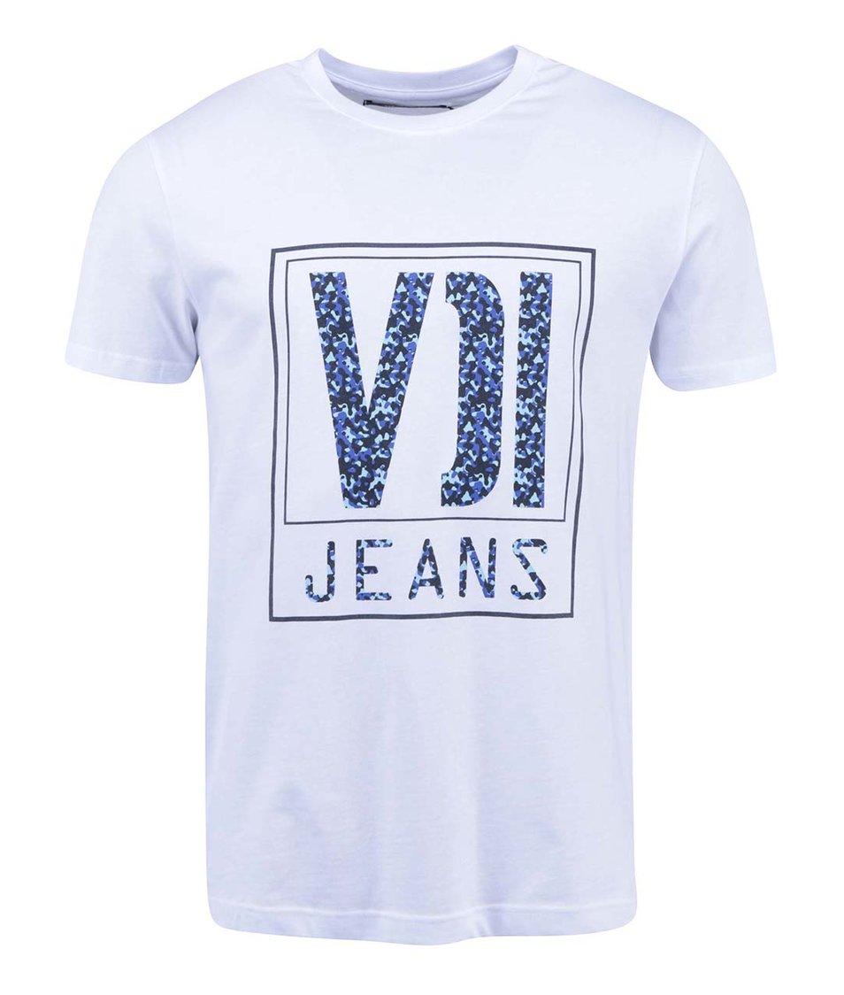 Bílé pánské triko s potiskem Voi Jeans Eclipse