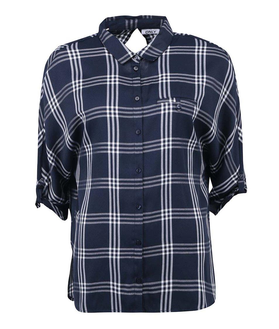 Modrá kostkovaná košile ONLY Suki