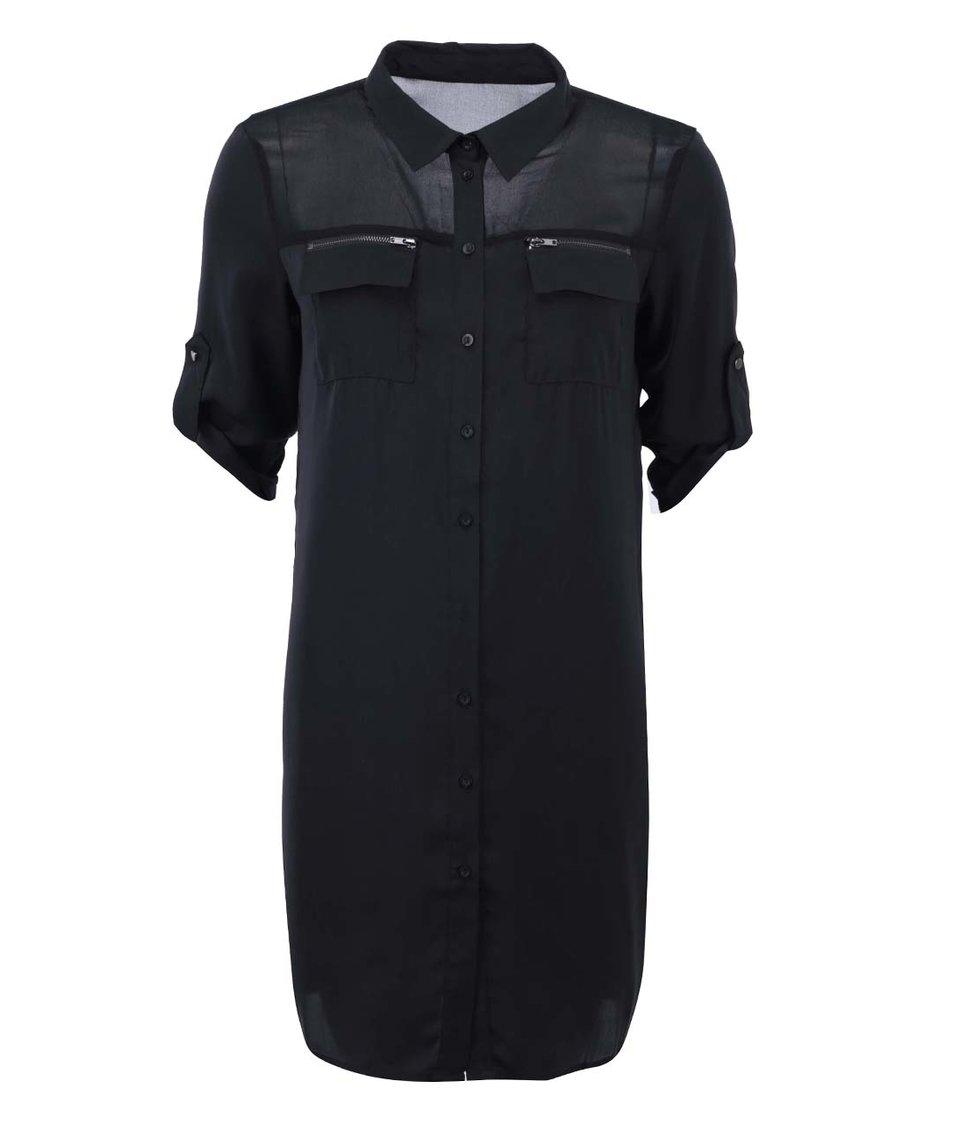 Černá dlouhá košile ONLY Avery