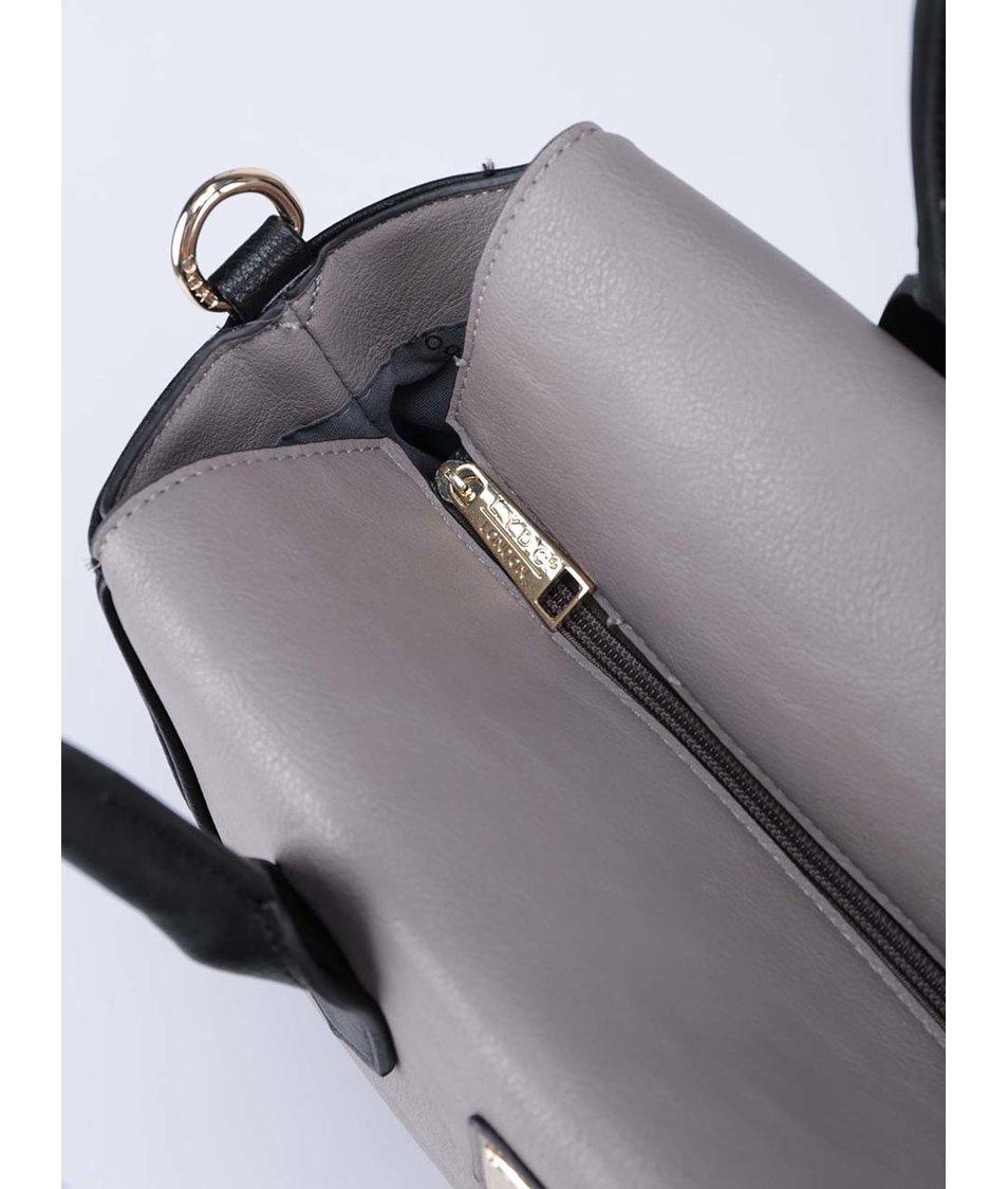 Šedo-černá větší kabelka LYDC - Akční cena  0985a746a0e