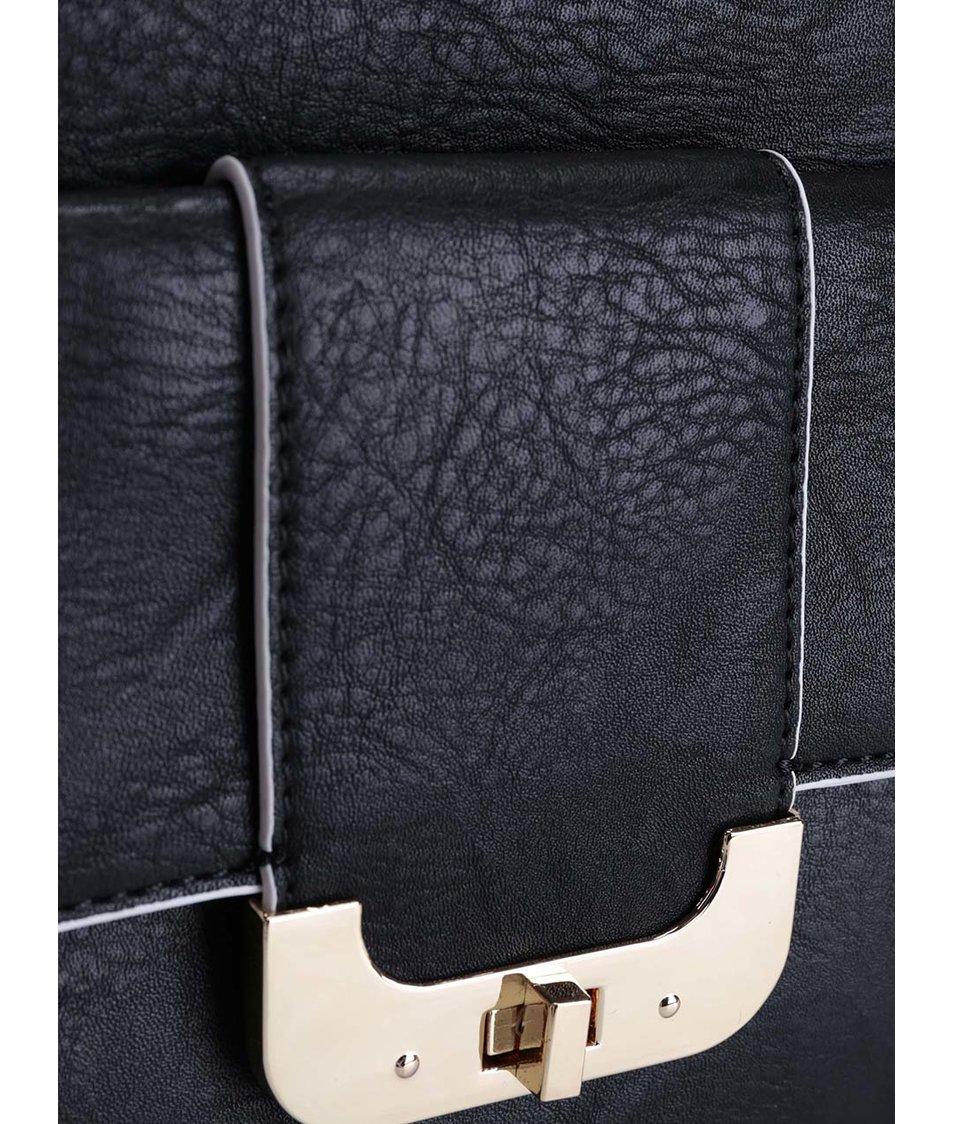 5ff25b901b Černá kabelka s ozdobnou třásní LYDC - SLEVA!
