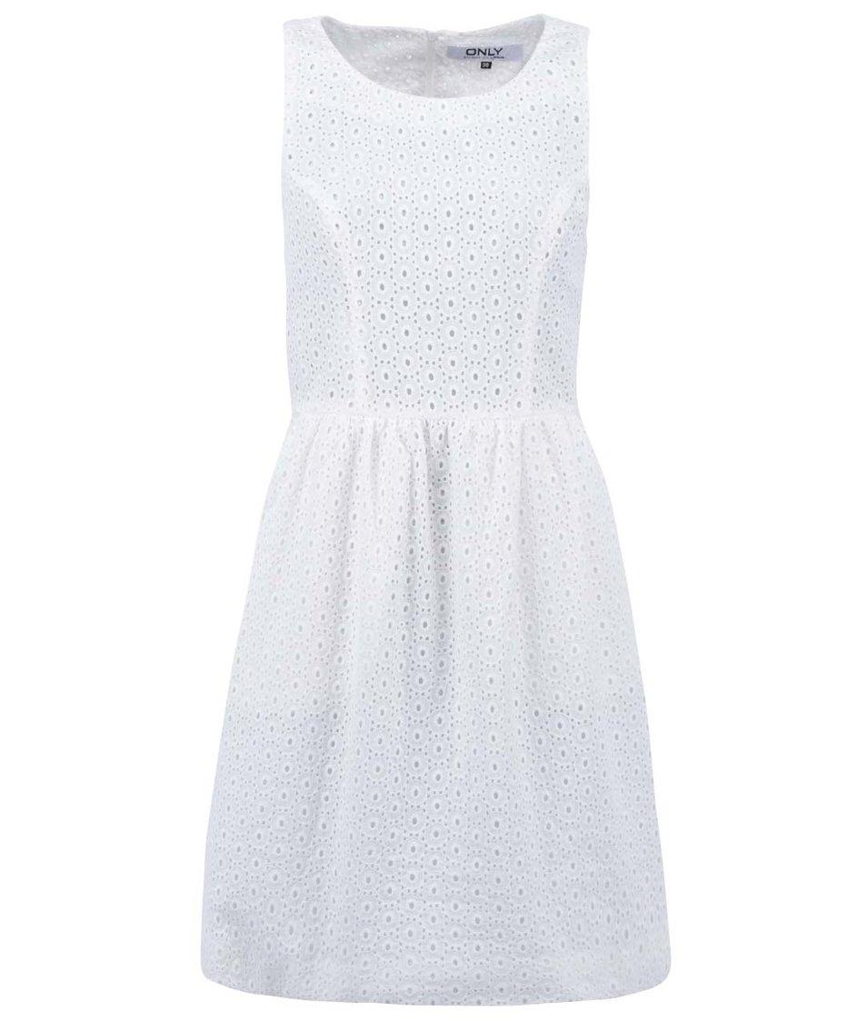 Krémové krajkované šaty ONLY Ivy