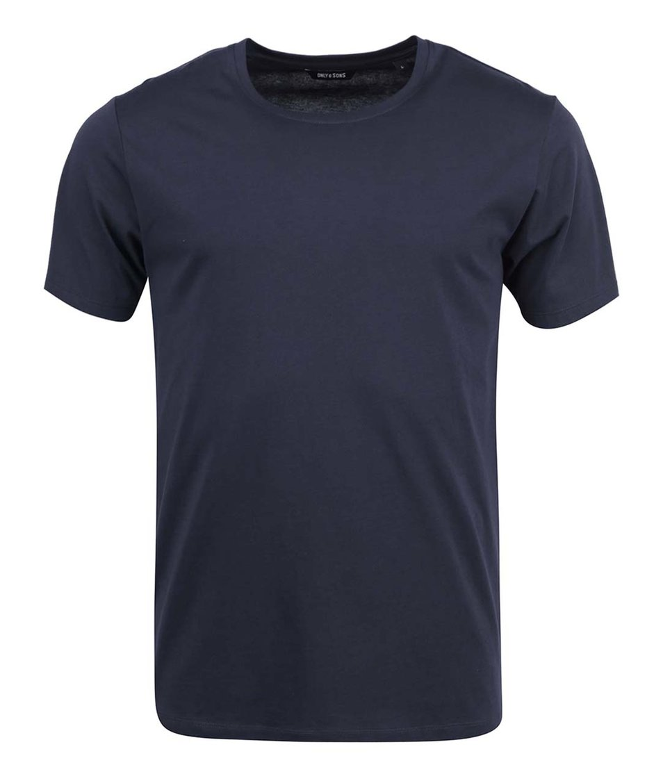 Tmavě modré triko ONLY & SONS Pima