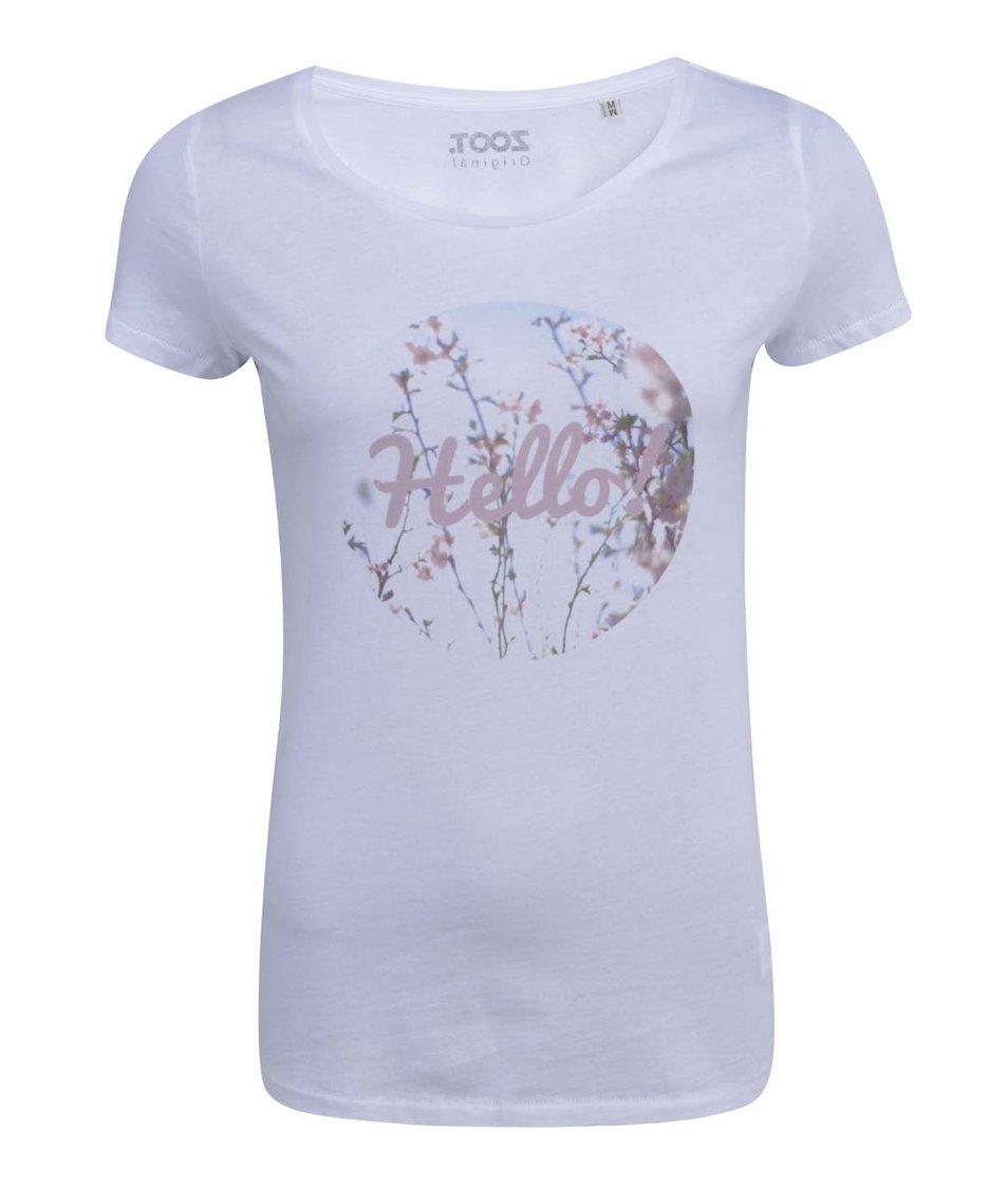 Bílé dámské tričko ZOOT Originál Hello