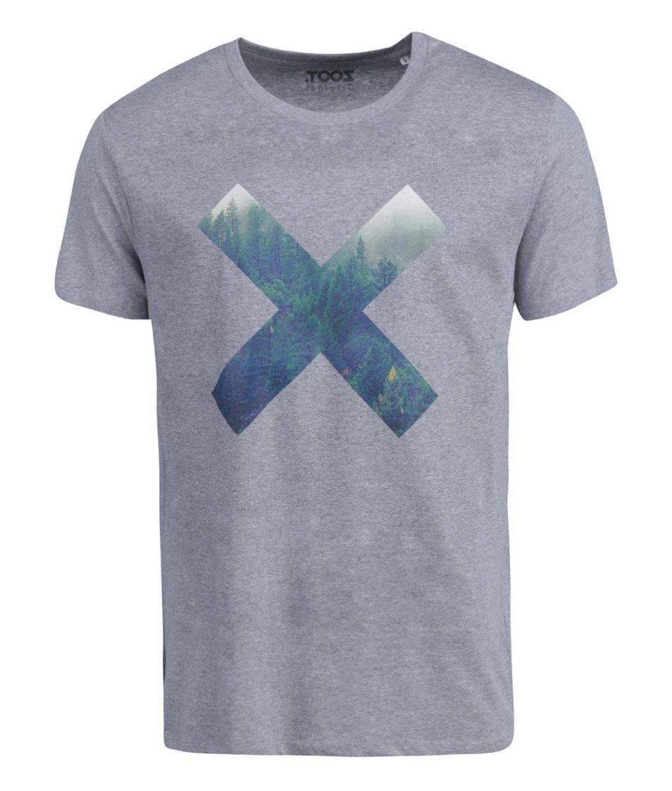 Šedé pánské triko ZOOT Originál Les
