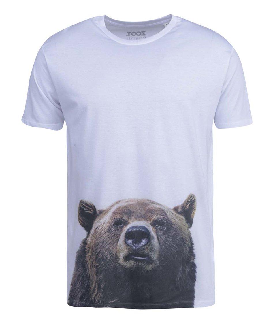 Bílé pánské triko ZOOT Originál Medvěd