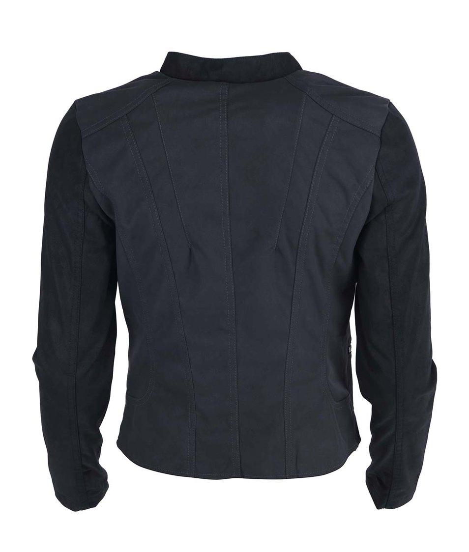 Černá koženková bunda ONLY Miami