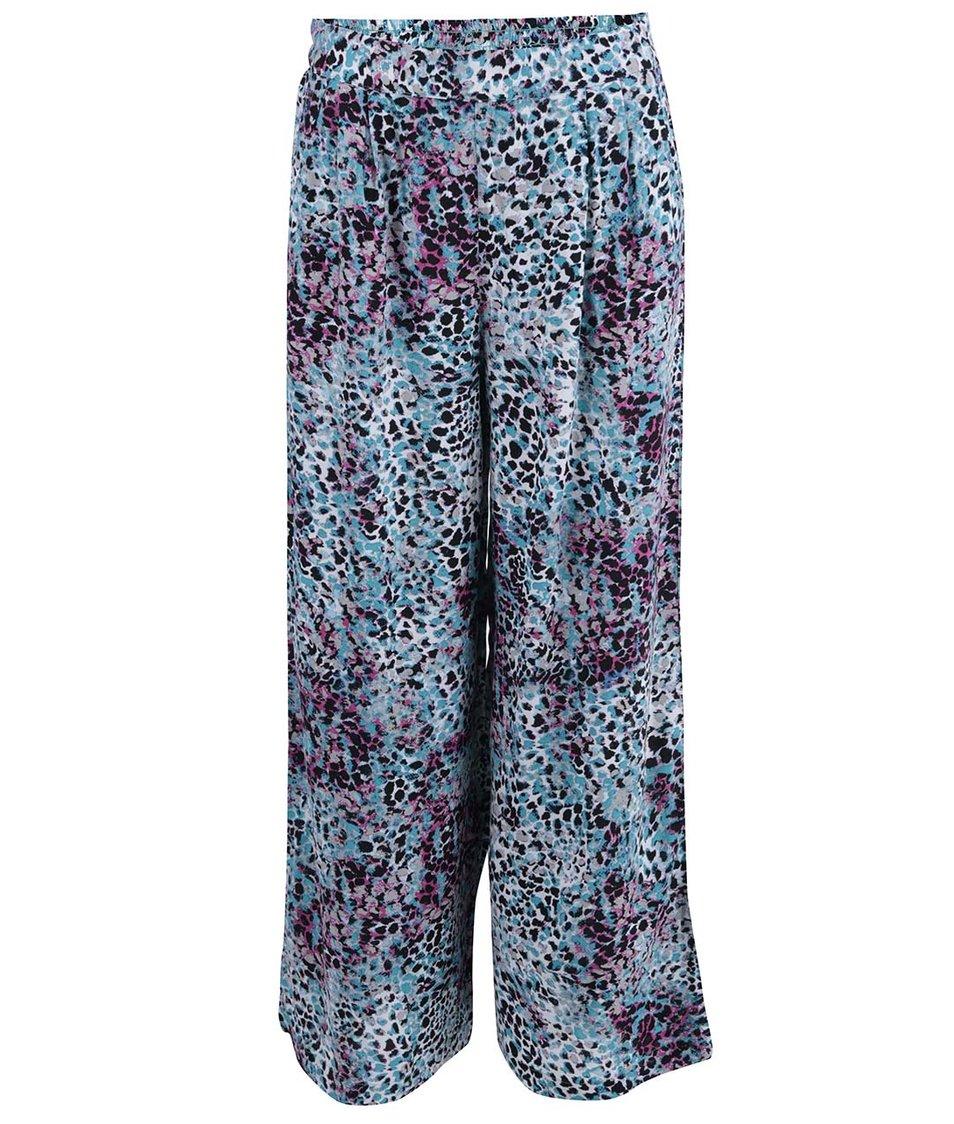 Tyrkysové volné kalhoty se vzorem ONLY Choice