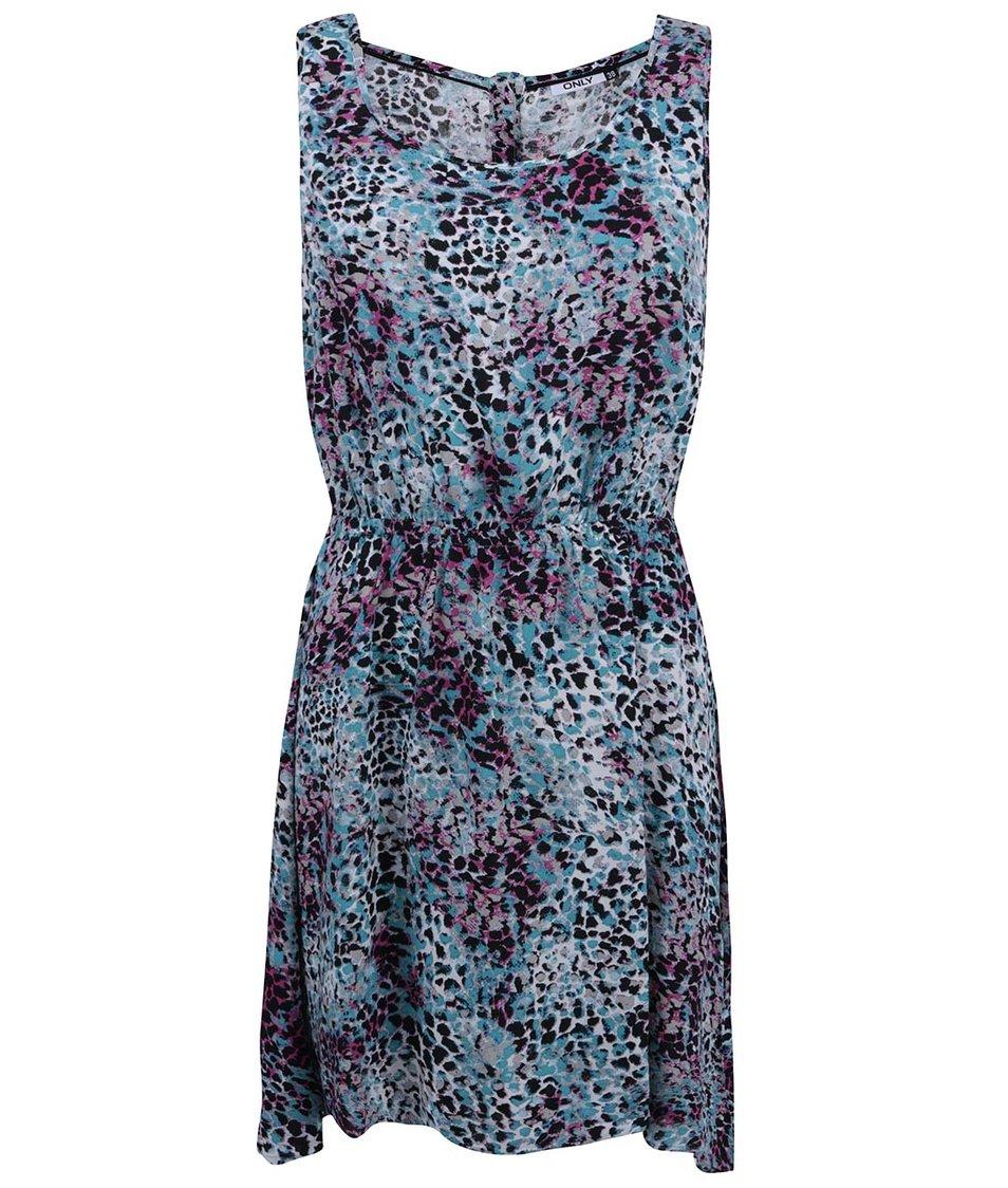 Tyrkysové vzorované šaty ONLY Choice