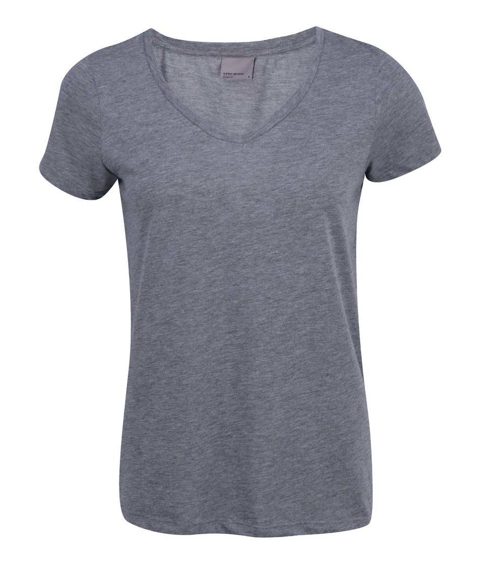 Šedé tričko Vero Moda Molly