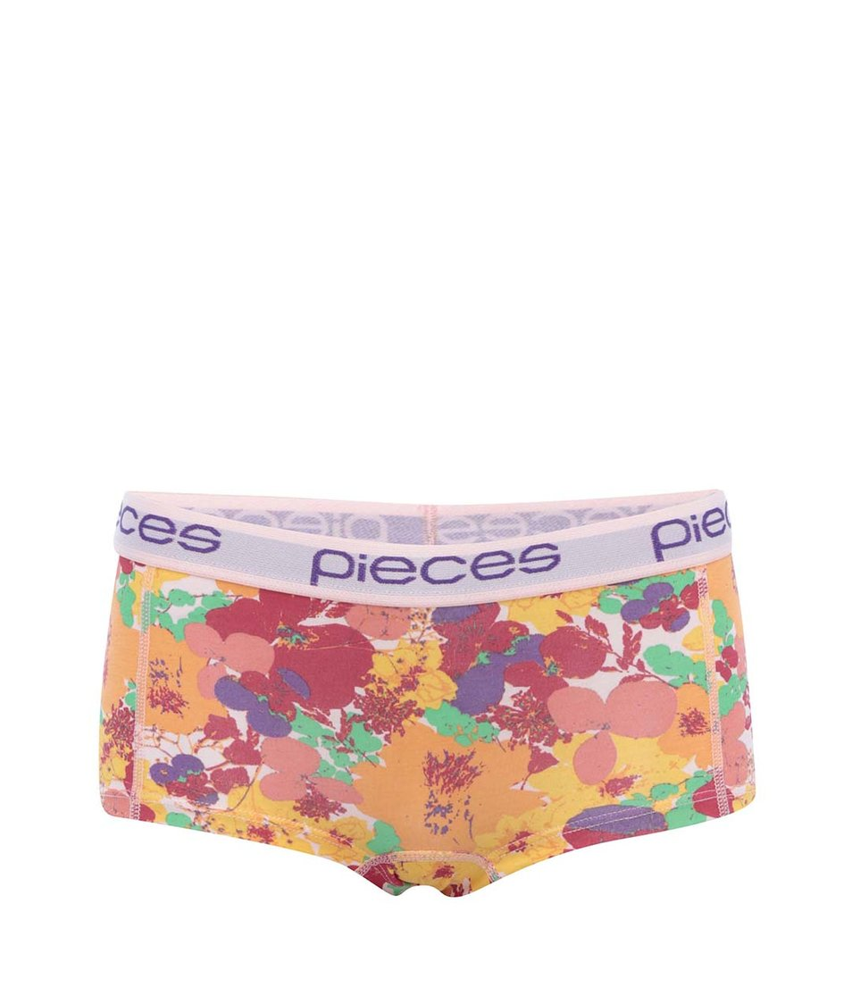 Barevné květované boxerky Pieces Logo