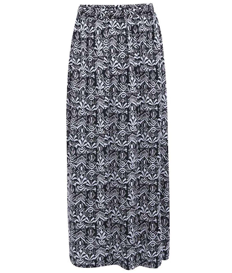 Černo-bílá dlouhá sukně se vzorem ONLY Choice