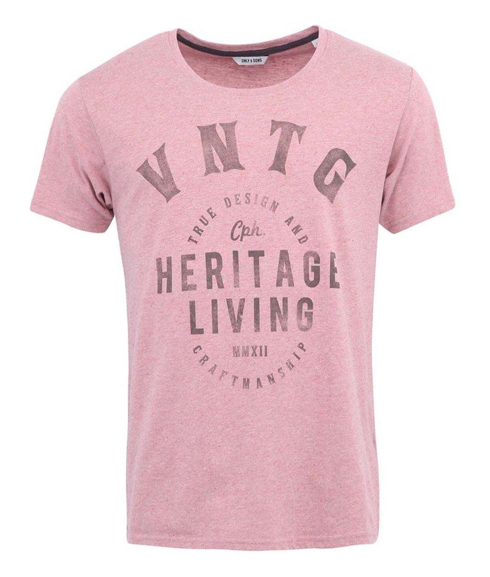 Růžové triko ONLY & SONS Torben