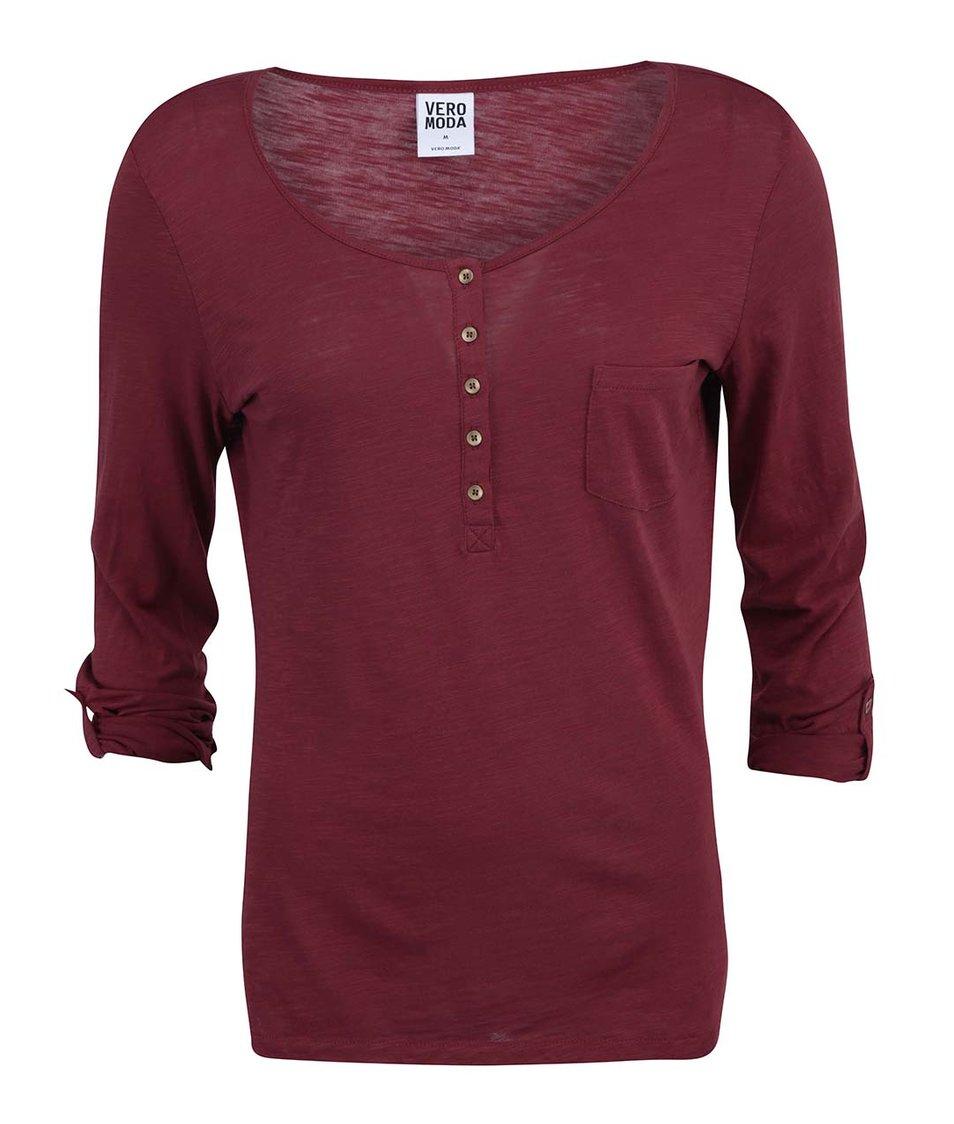 Červené tričko s 3/4 rukávem  Vero Moda Lucky