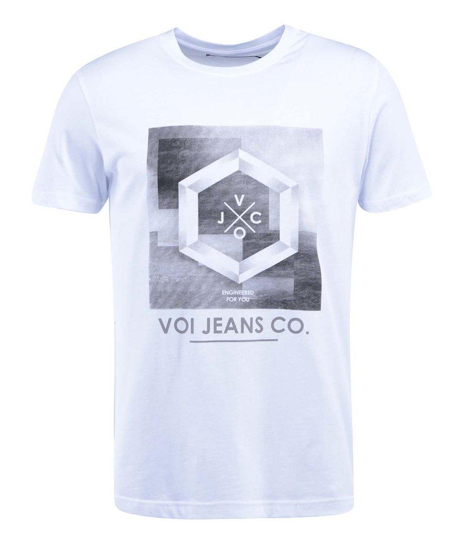 Bílé triko s potiskem Voi Jeans Copley