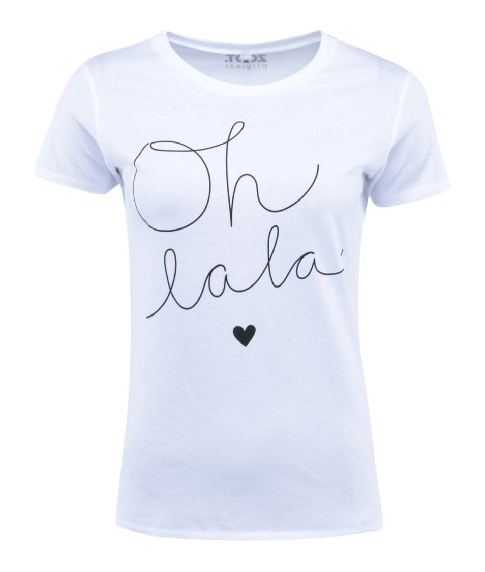 Bílé tričko ZOOT Originál Oh lala
