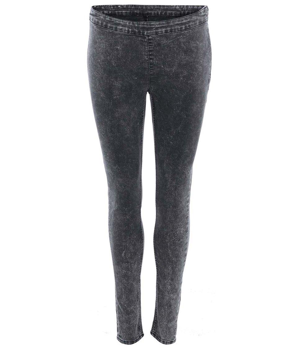 Šedé dámské džíny s opraným efektem Cheap Monday Mid spray