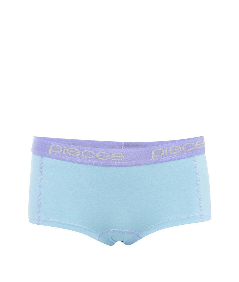 Fialovo-modré boxerky Pieces Logo