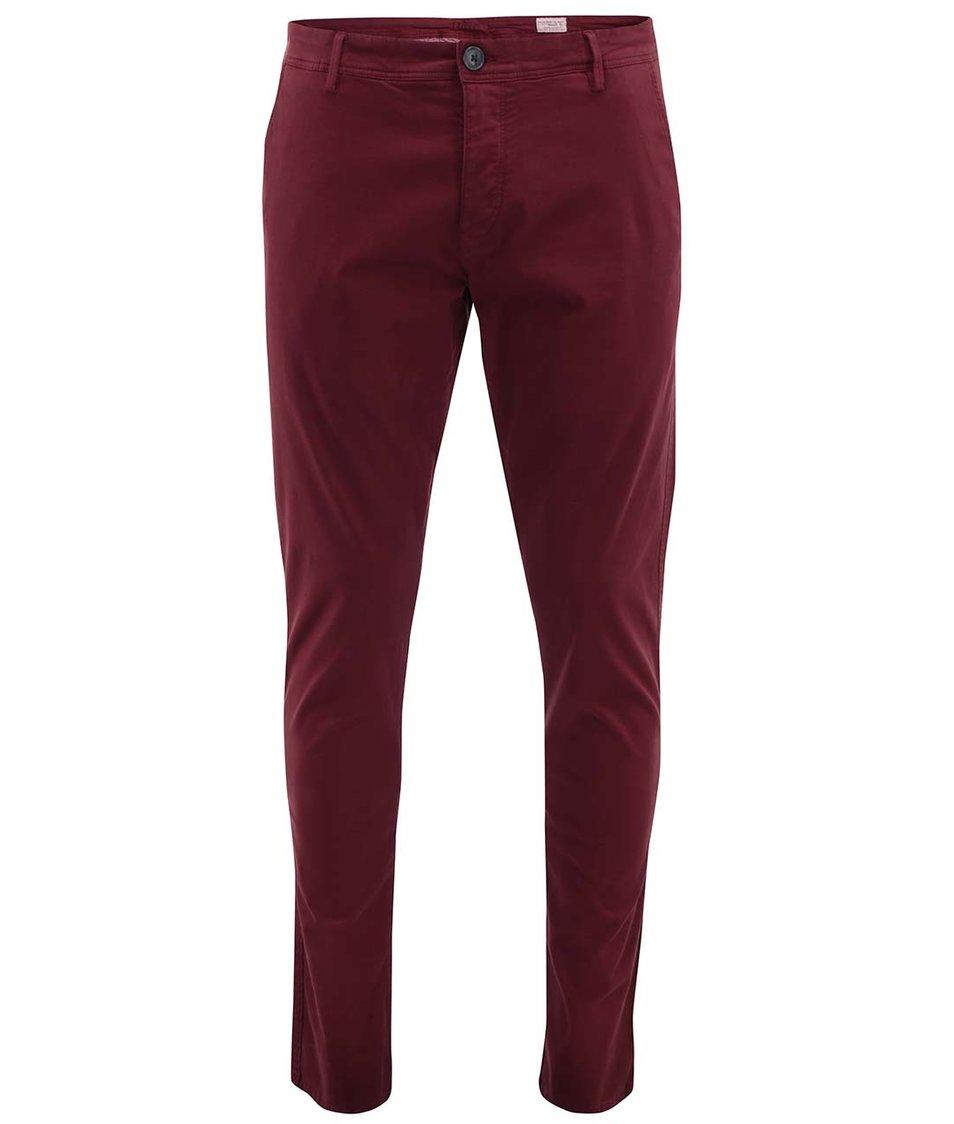 Cihlově červené chino kalhoty Selected One Luca