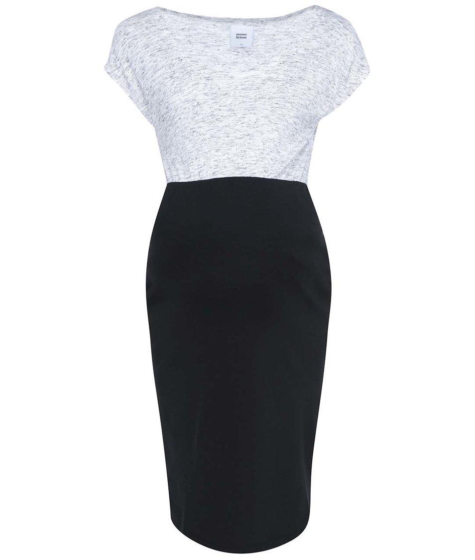 Šedo-černé žíhané šaty Mama.liciou Tacey
