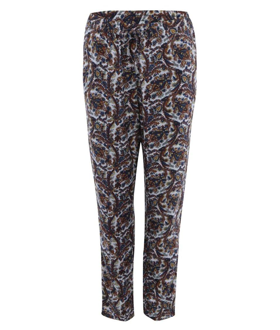 Barevné volnější kalhoty s kašmírovým vzorem ONLY Choice