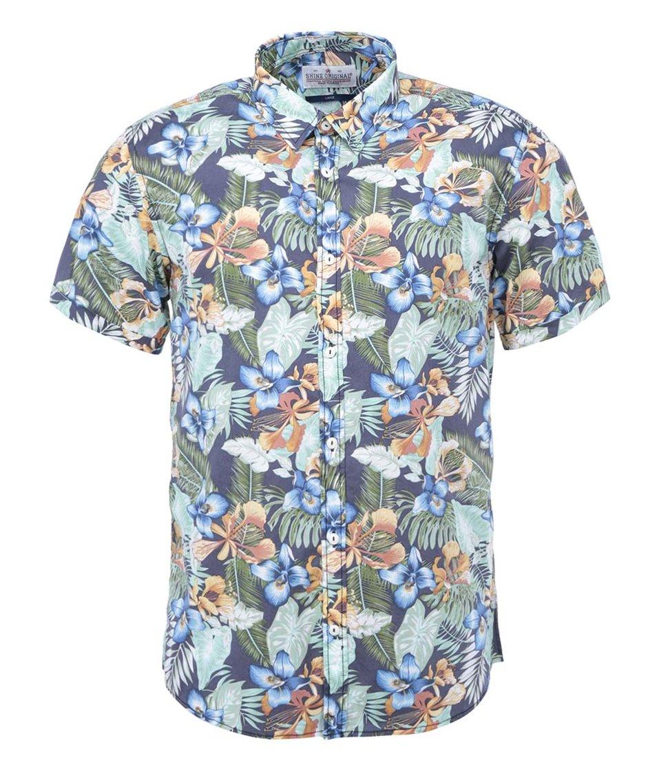 Zelená košile s květovaným vzorem Shine Original