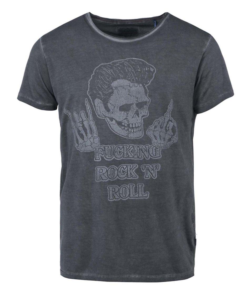 Tmavě šedé triko s potiskem Shine Original Special
