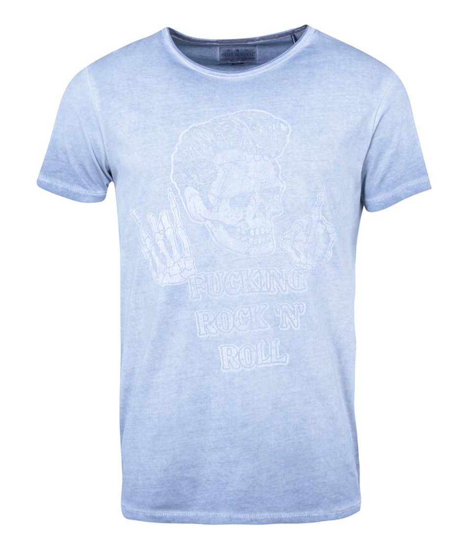 Světle modré triko s potiskem Shine Original Special