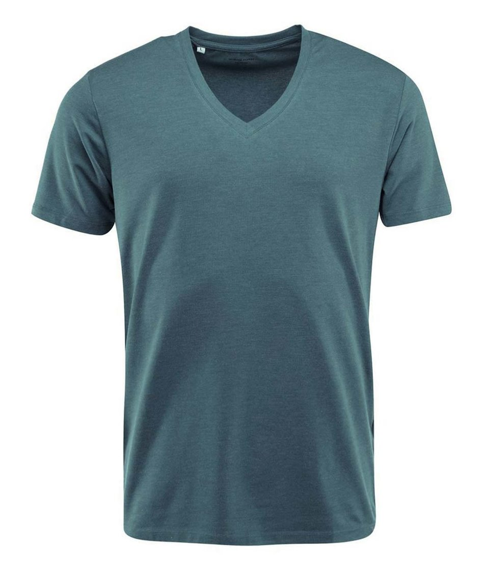 "Modré triko s výstřihem do ""v"" Selected Pima"