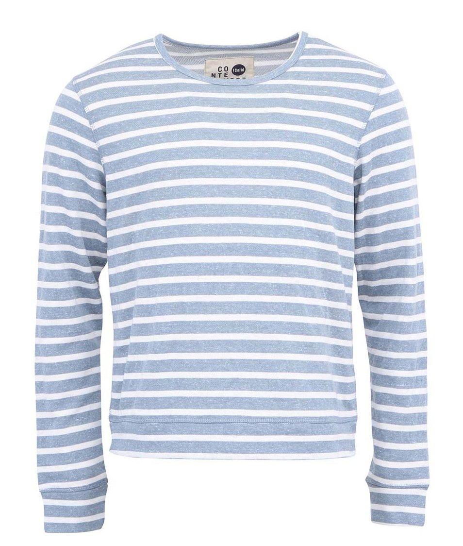 Modré pruhované triko !Solid
